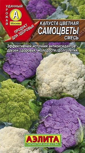 Семена капусты Самоцветы цветная